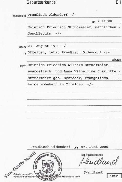 德国出生证明
